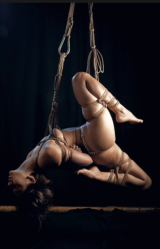 Bound shibari suspended and spanked 8